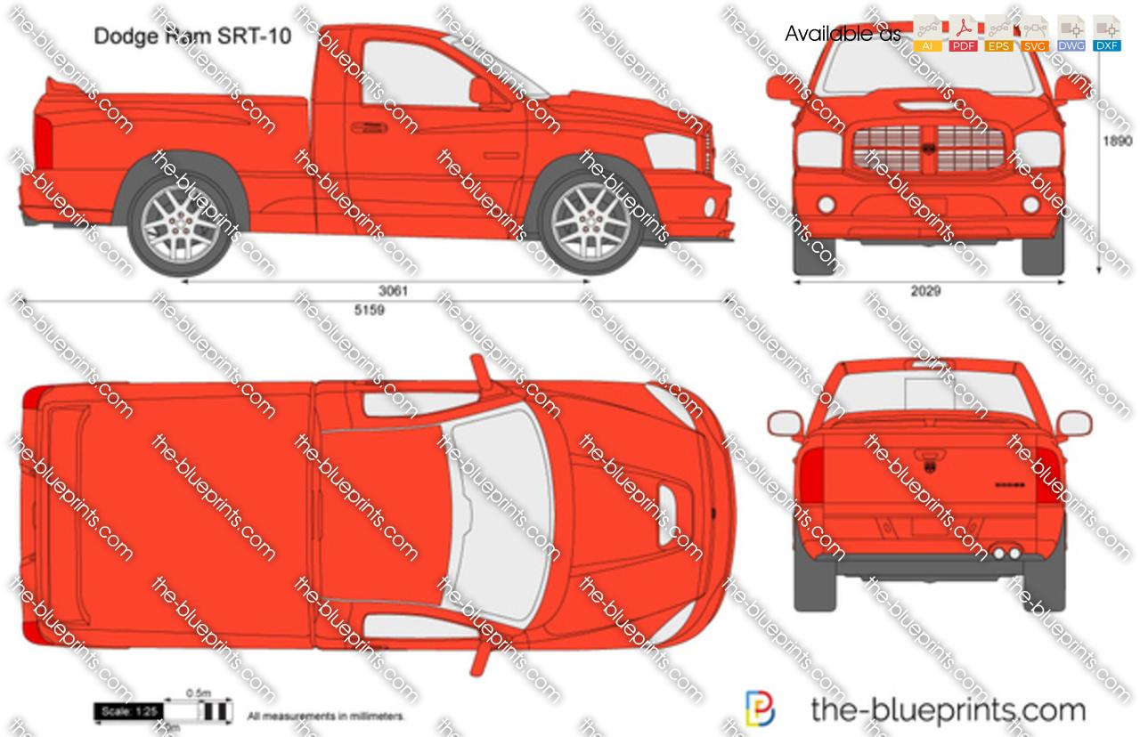 Ram Srt 10 >> The-Blueprints.com - Vector Drawing - Dodge Ram SRT-10