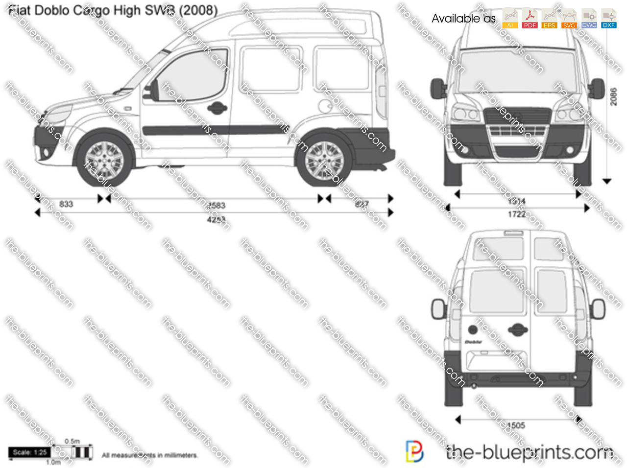 2006_fiat_doblo_cargo_high_swb the blueprints com vector drawing fiat doblo cargo high swb fiat doblo wiring diagram pdf at alyssarenee.co