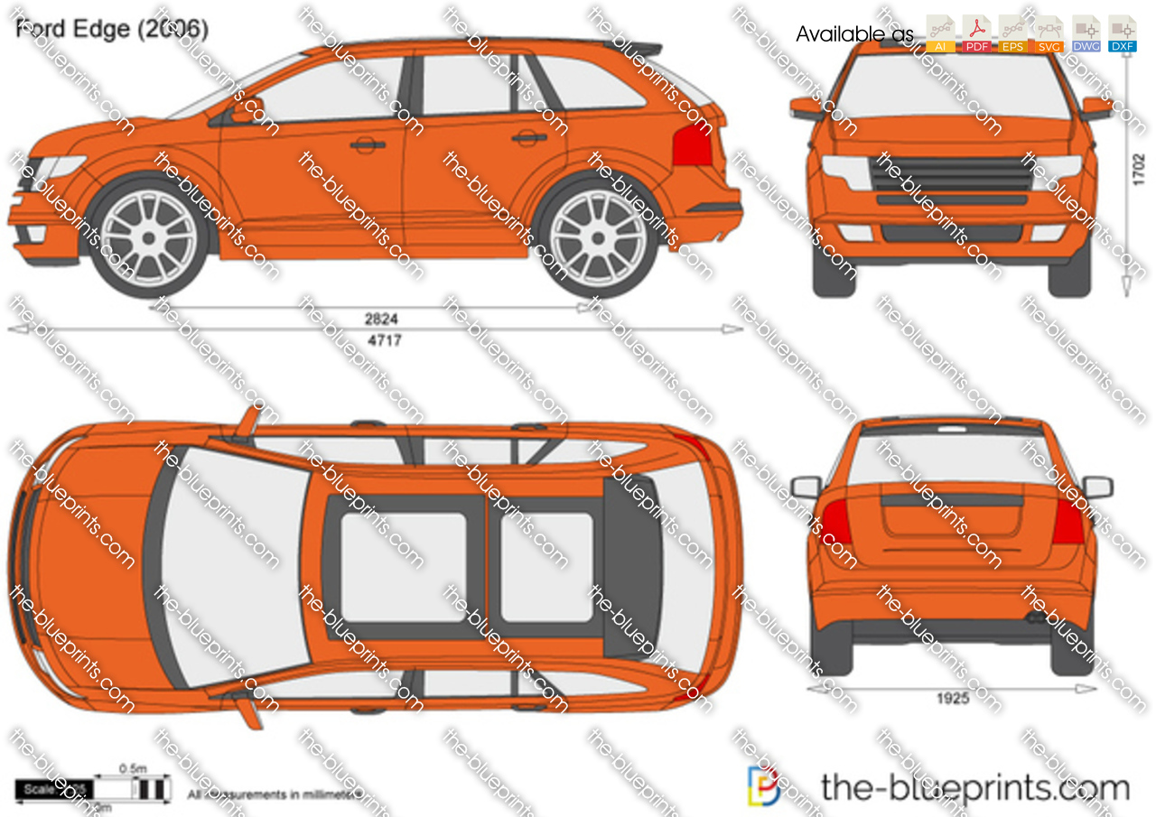 Ford Edge Dimensions >> Ford Edge Vector Drawing