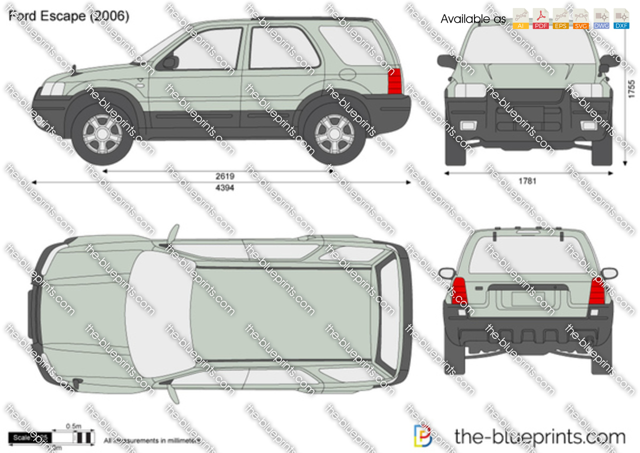 2014 Ford Escape Headlights >> Ford Escape vector drawing