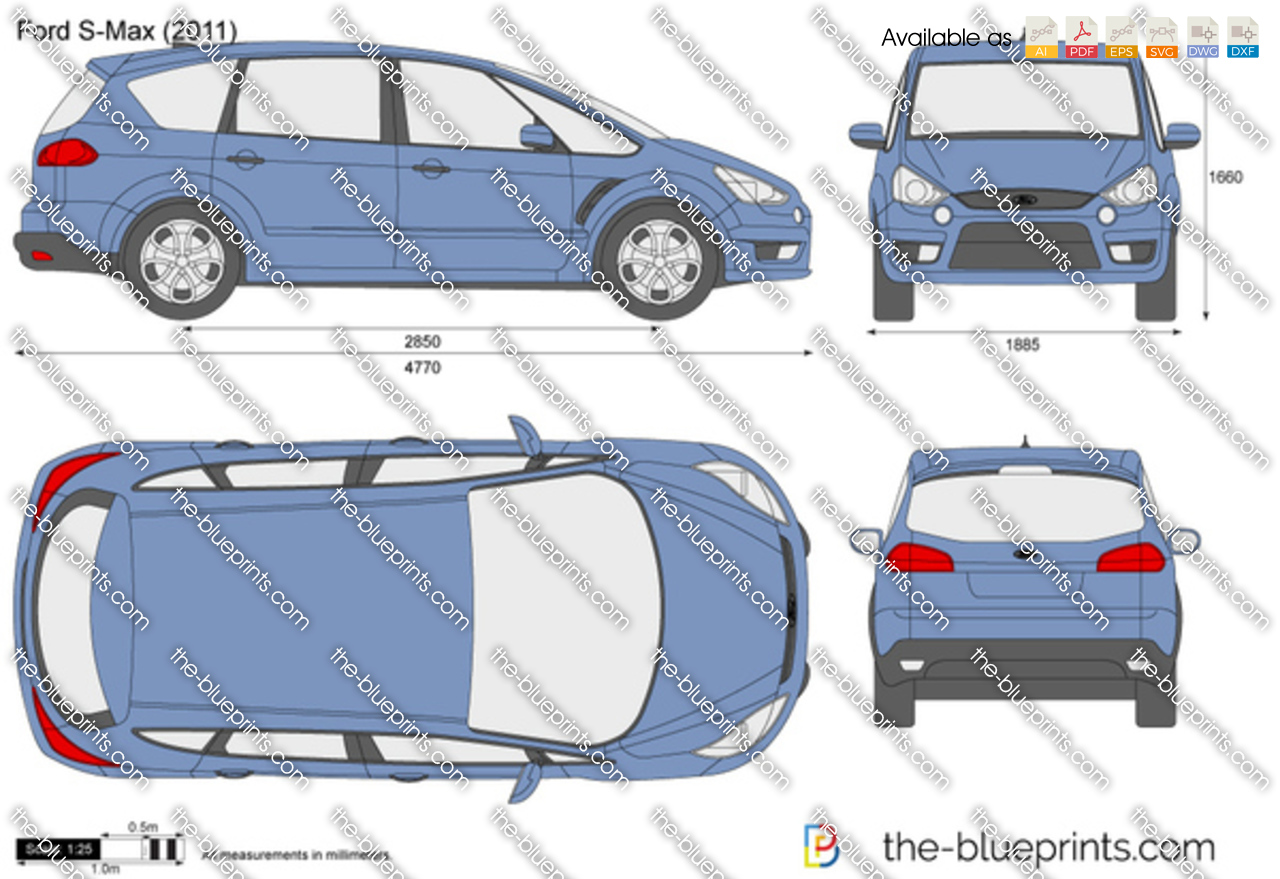 TheBlueprintscom  Vector Drawing  Ford SMax
