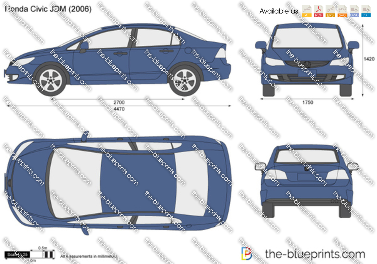 Honda Civic Jdm Vector Drawing