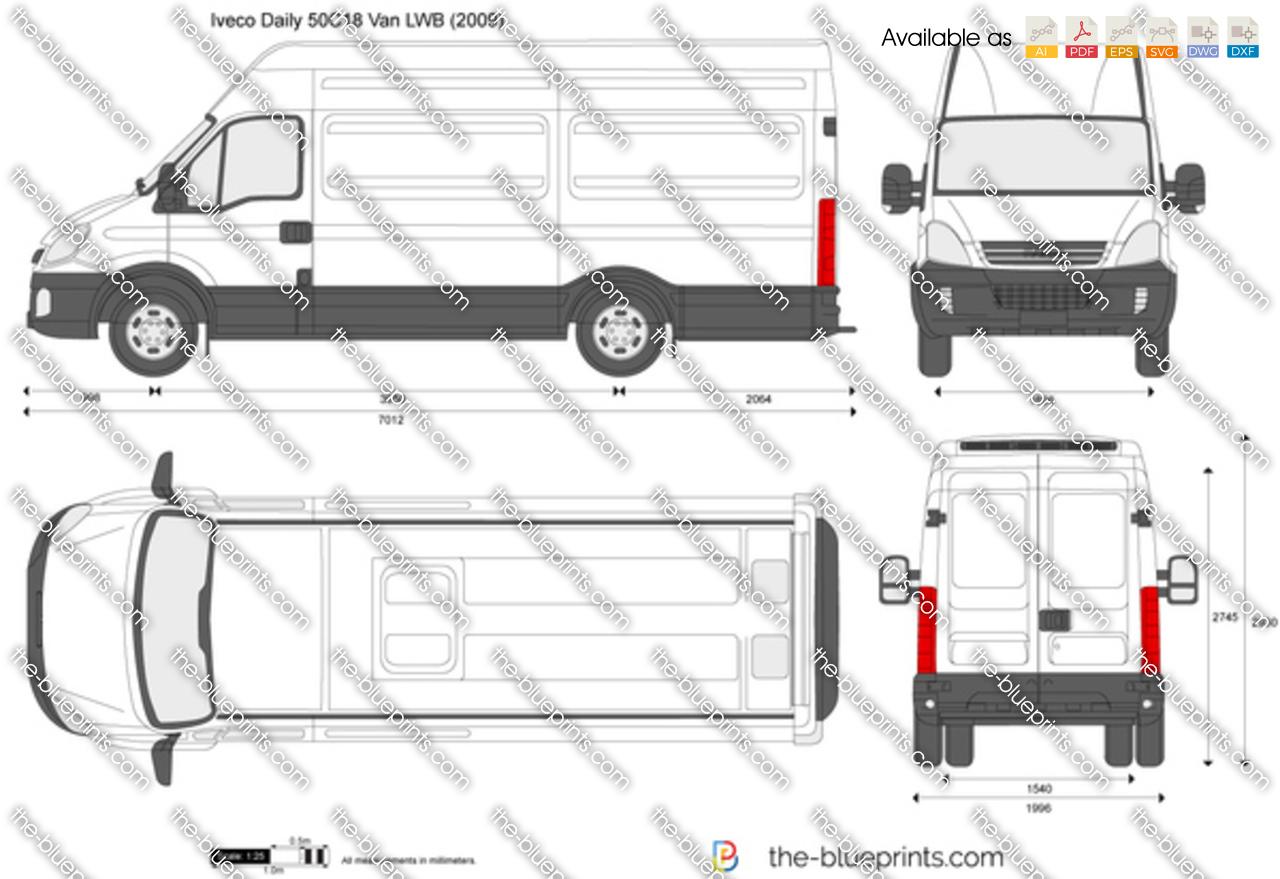 iveco daily 50c18 van lwb vector drawing. Black Bedroom Furniture Sets. Home Design Ideas