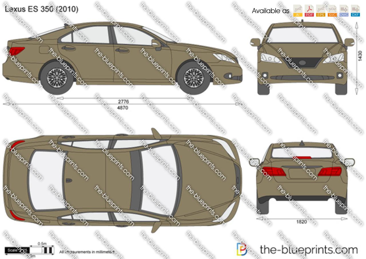 Lexus Es 350 Vector Drawing