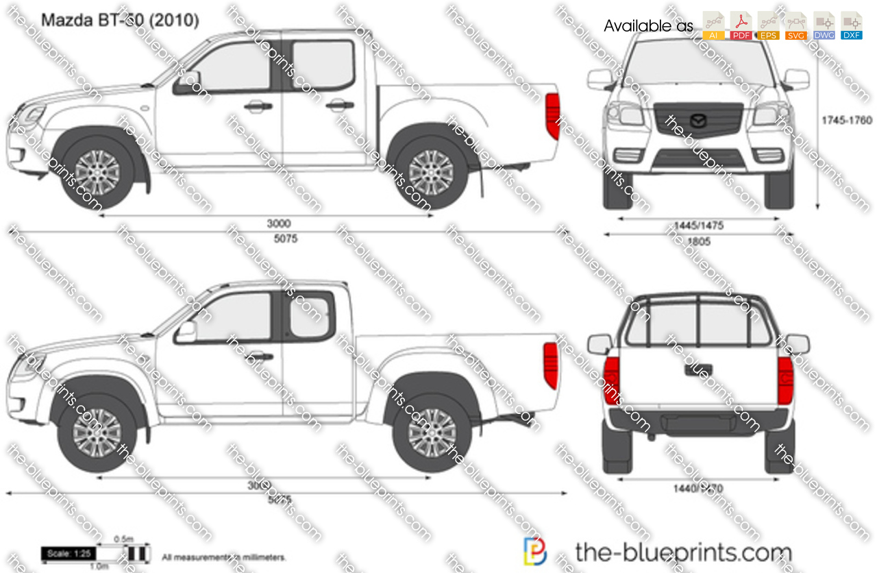 Mazda Bt 50 Vector Drawing