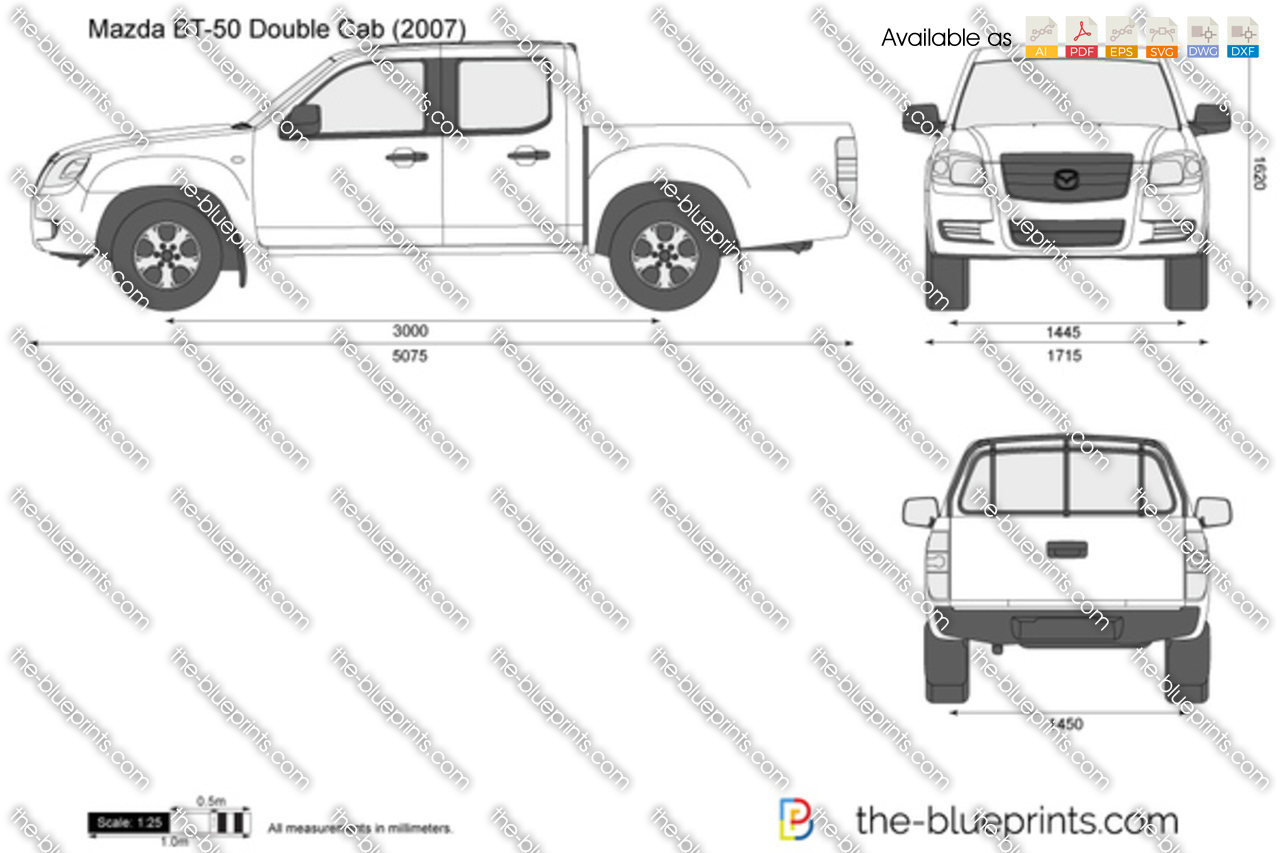 the-blueprints - vector drawing - mazda bt-50 double cab