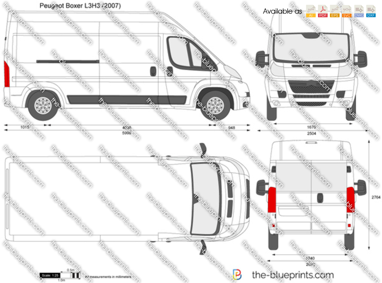 peugeot boxer l3h3 vector drawing. Black Bedroom Furniture Sets. Home Design Ideas