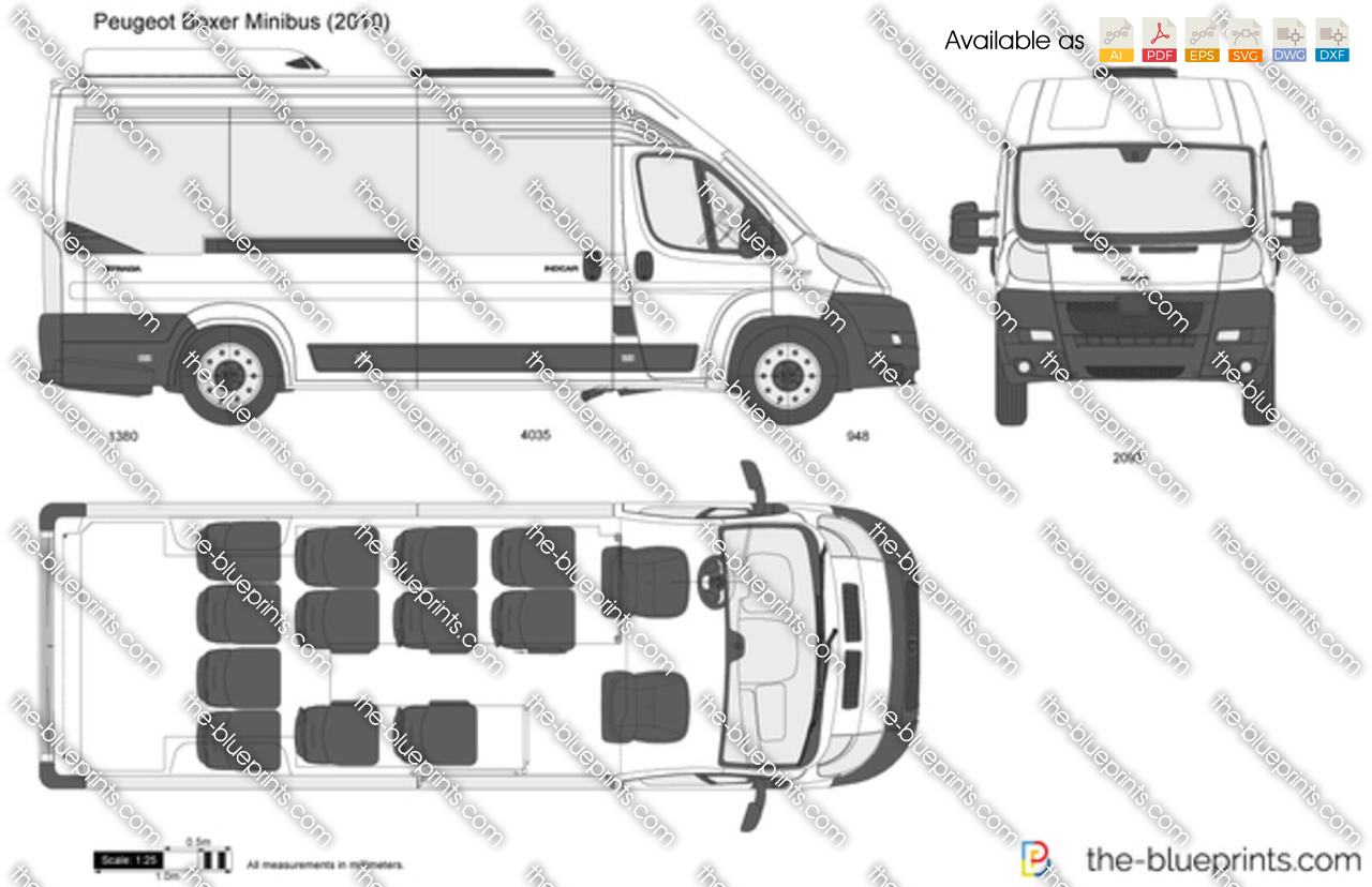 the vector drawing peugeot boxer minibus. Black Bedroom Furniture Sets. Home Design Ideas