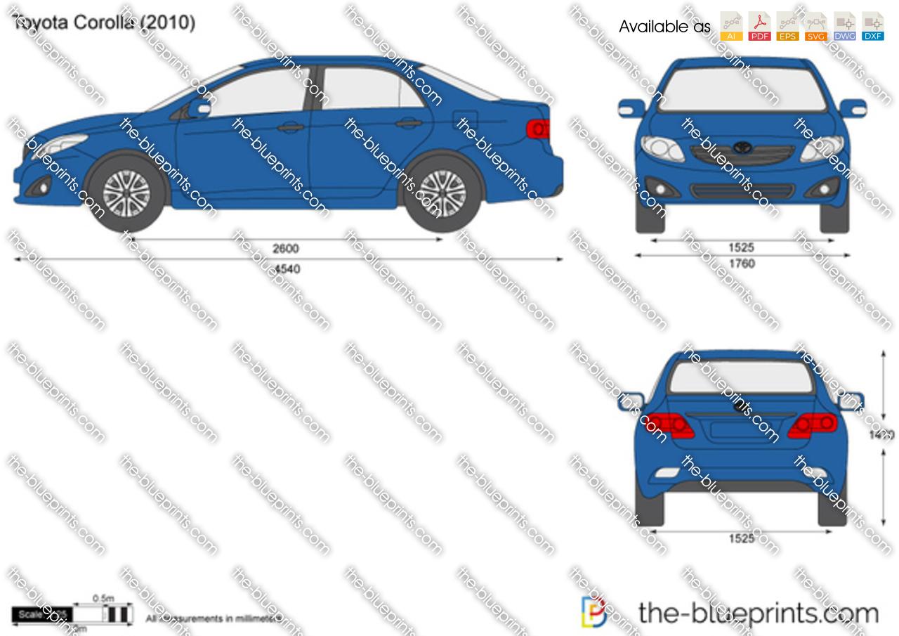 The Blueprints Com Vector Drawing Toyota Corolla