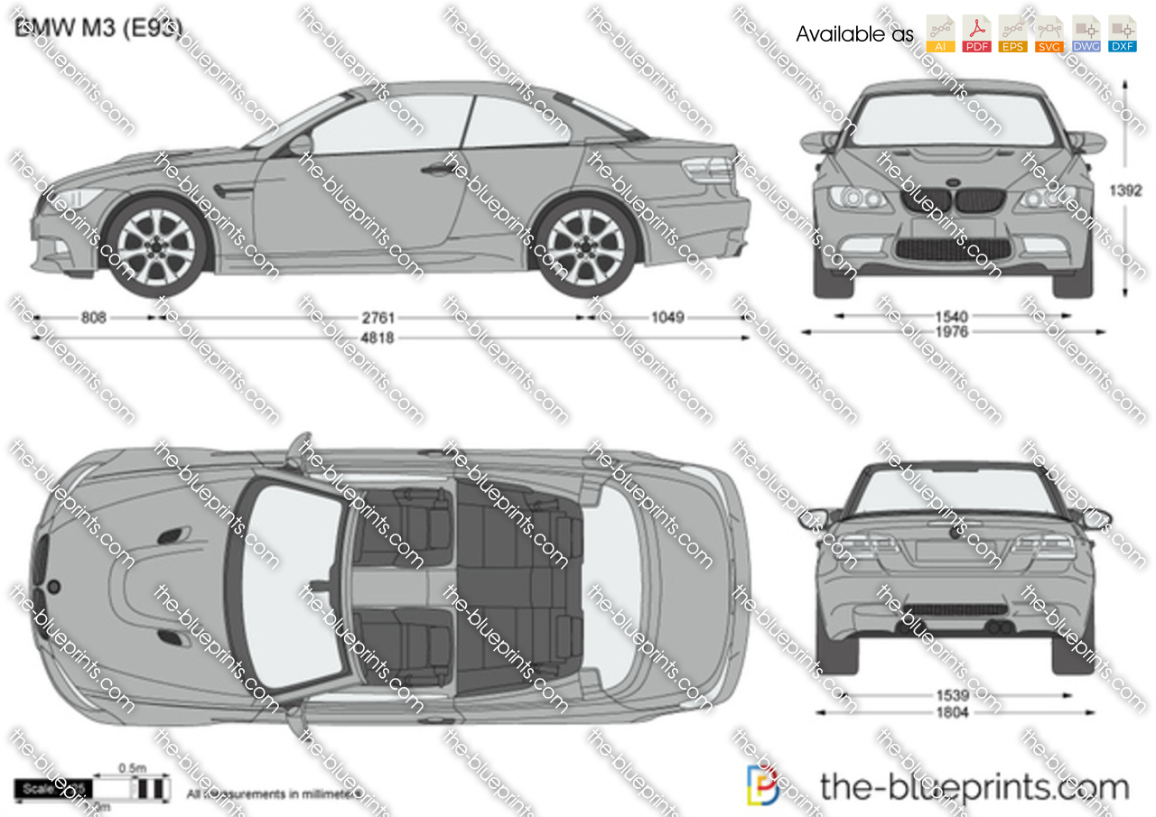 Bmw M3 E93 Vector Drawing