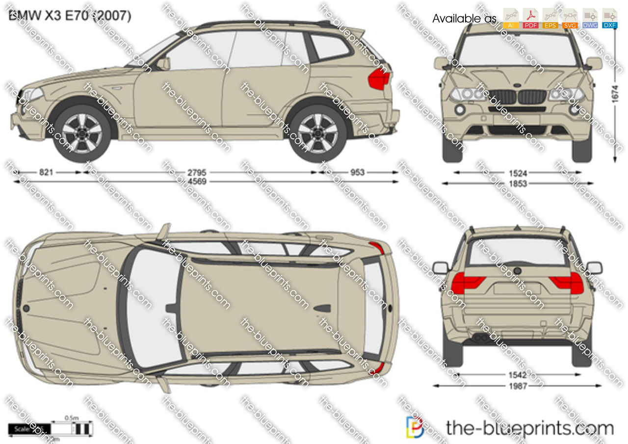 BMW Convertible bmw x3 2013 model BMW X3 E83 vector drawing