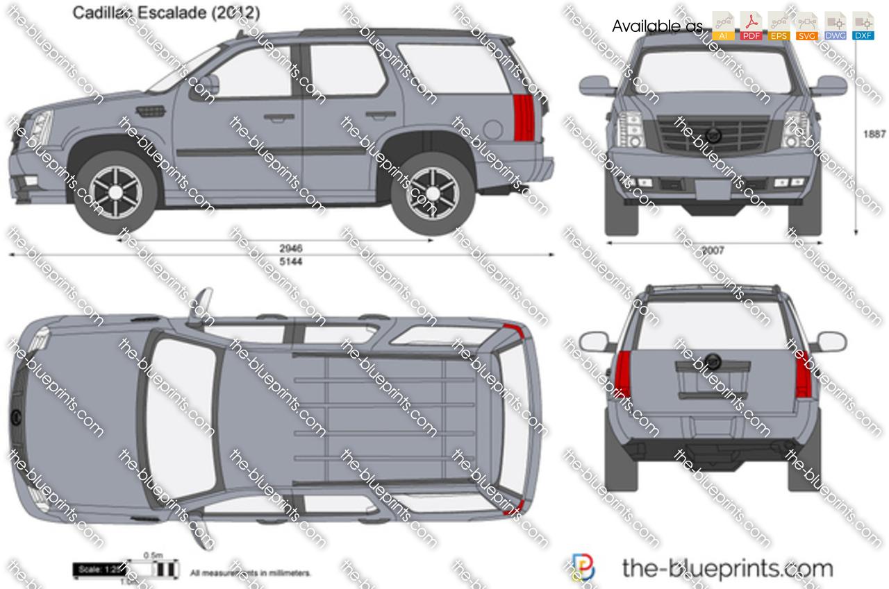The Blueprints Com Vector Drawing Cadillac Escalade