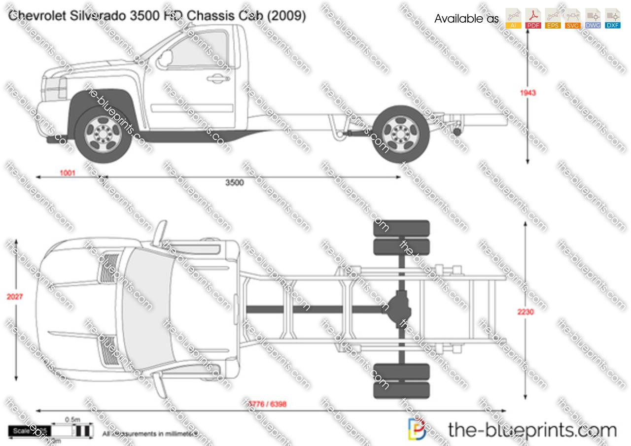 TheBlueprintscom  Vector Drawing  Chevrolet Silverado 3500 HD