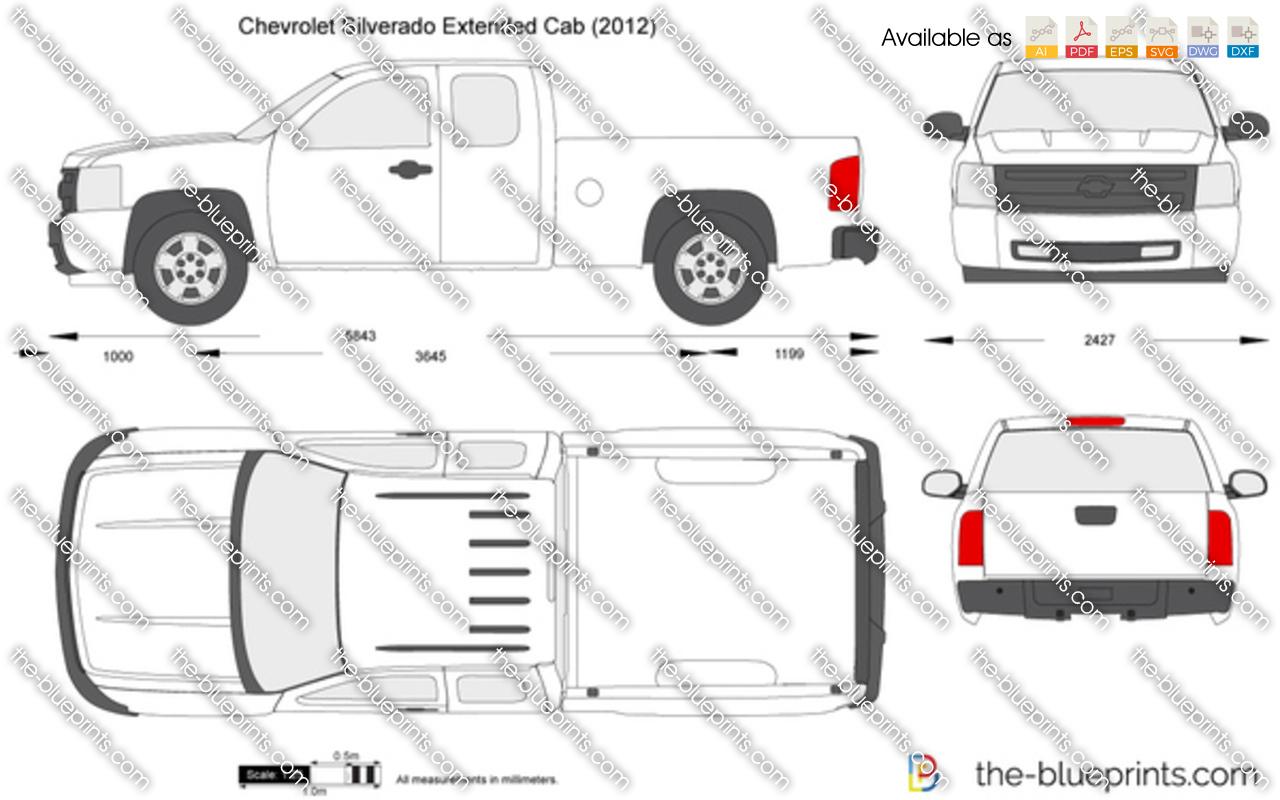 Headlights For Chevy Silverado The-Blueprints.com - Vector Drawing - Chevrolet Silverado ...