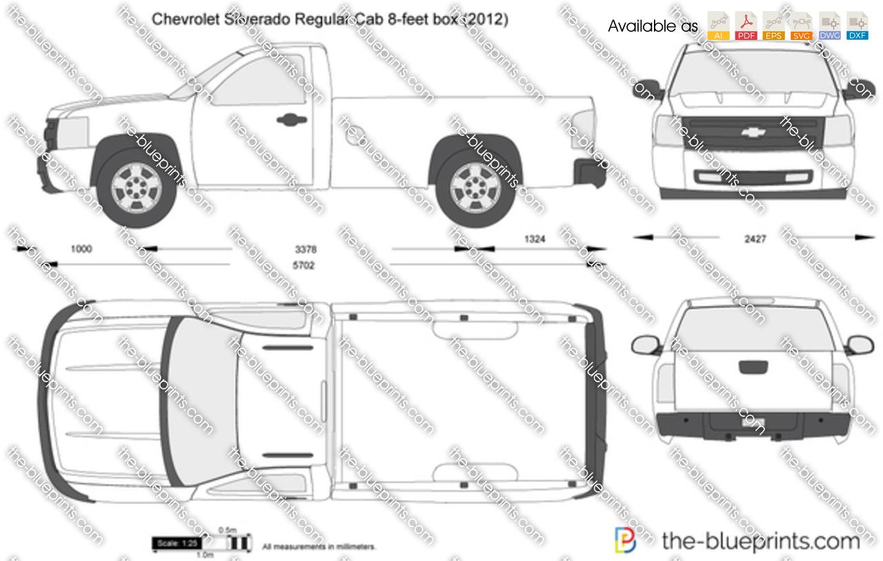 TheBlueprintscom  Vector Drawing  Chevrolet Silverado Regular