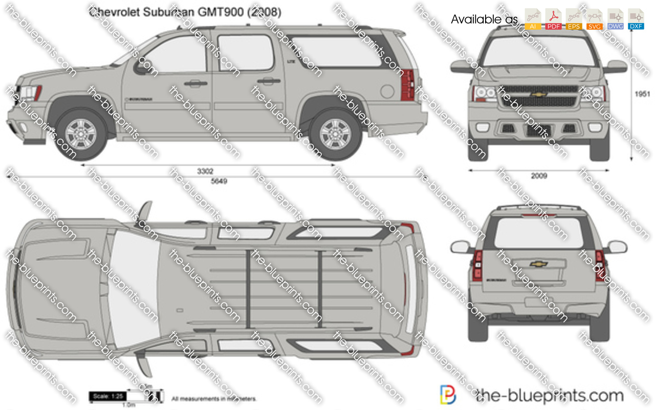 Chevrolet Suburban Gmt900 Vector Drawing