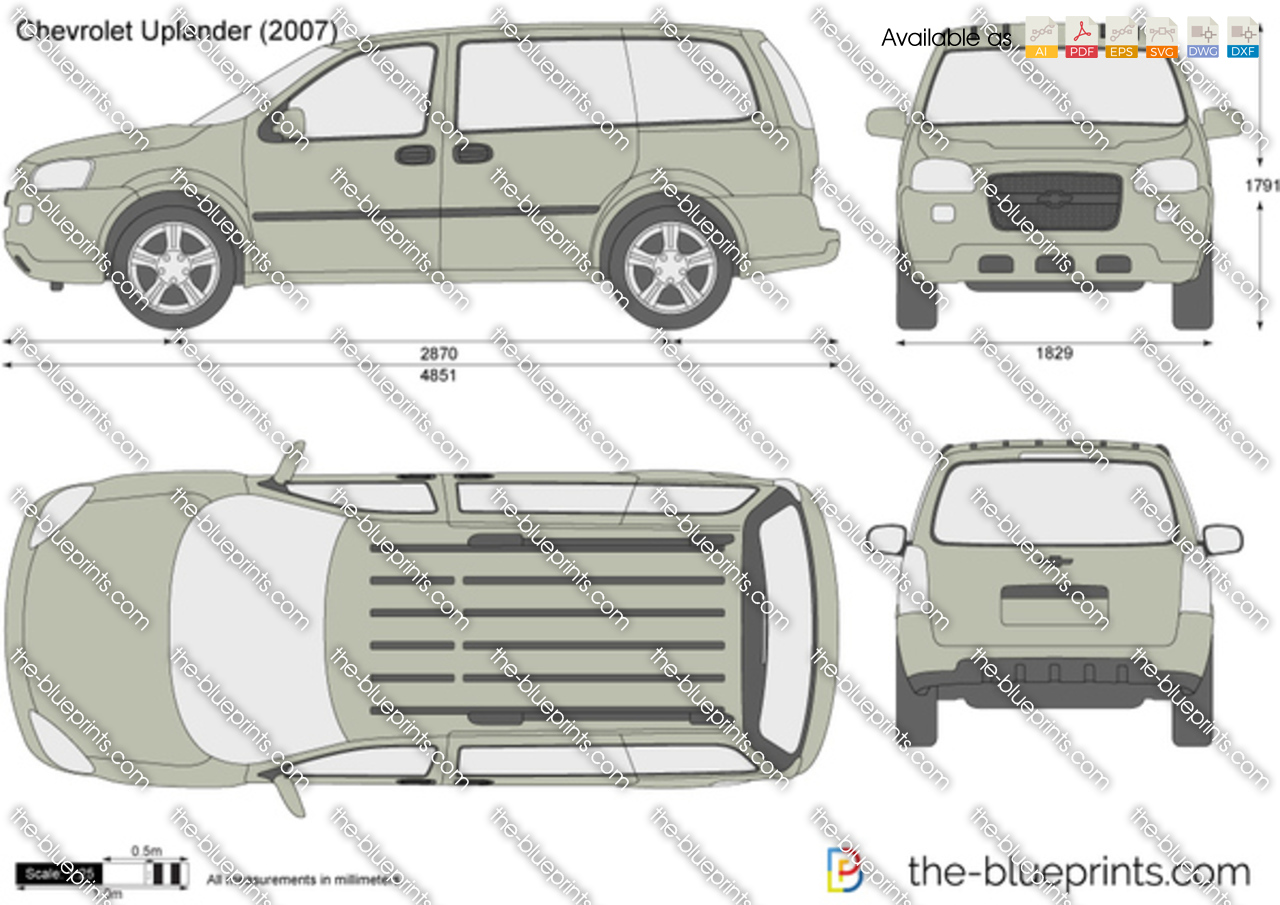 All Chevy 2000 chevy uplander : The-Blueprints.com - Vector Drawing - Chevrolet Uplander