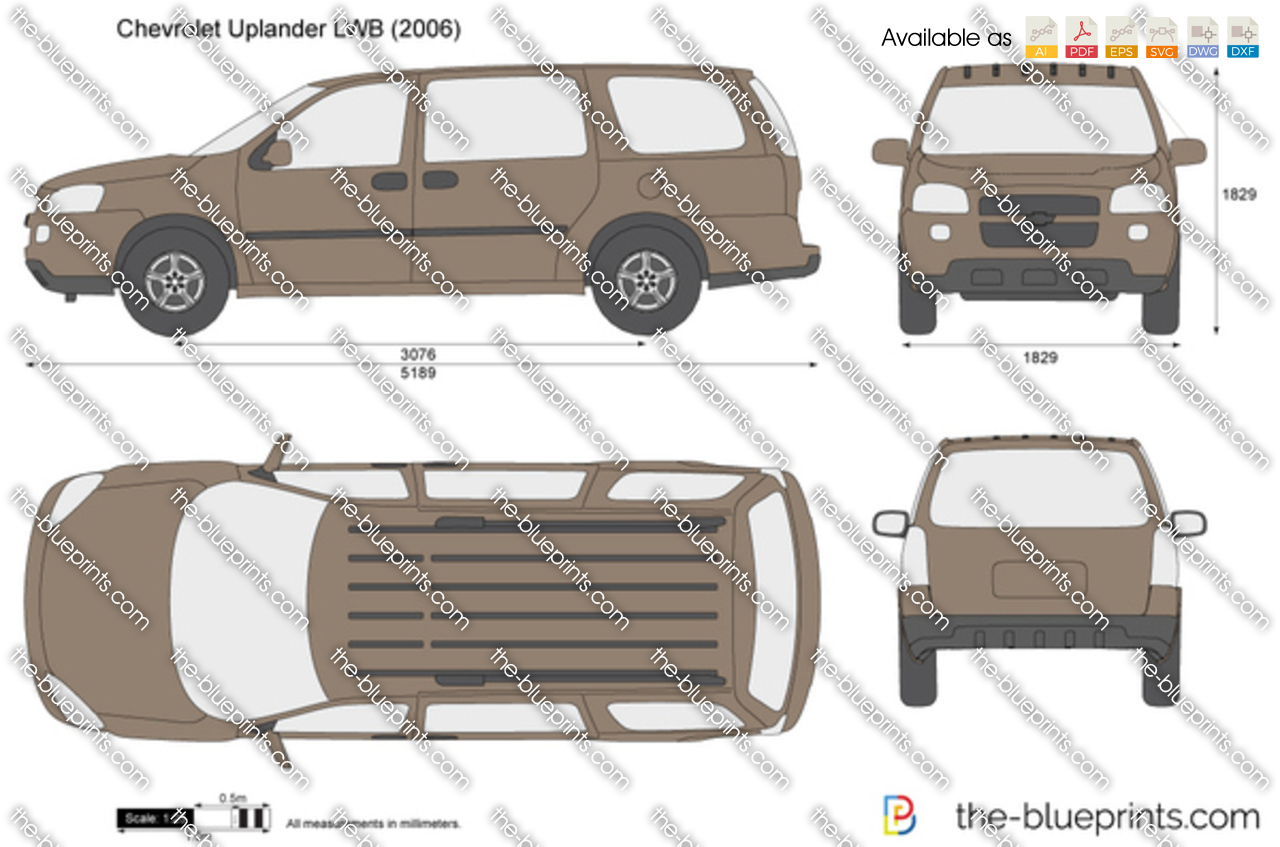 All Chevy 2000 chevy uplander : The-Blueprints.com - Vector Drawing - Chevrolet Uplander LWB