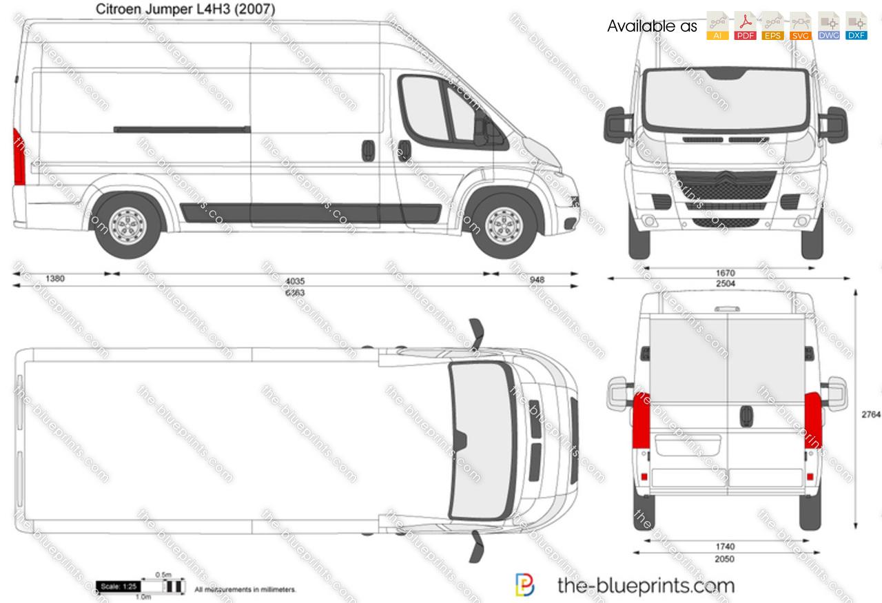 citroen jumper l4h3 vector drawing. Black Bedroom Furniture Sets. Home Design Ideas
