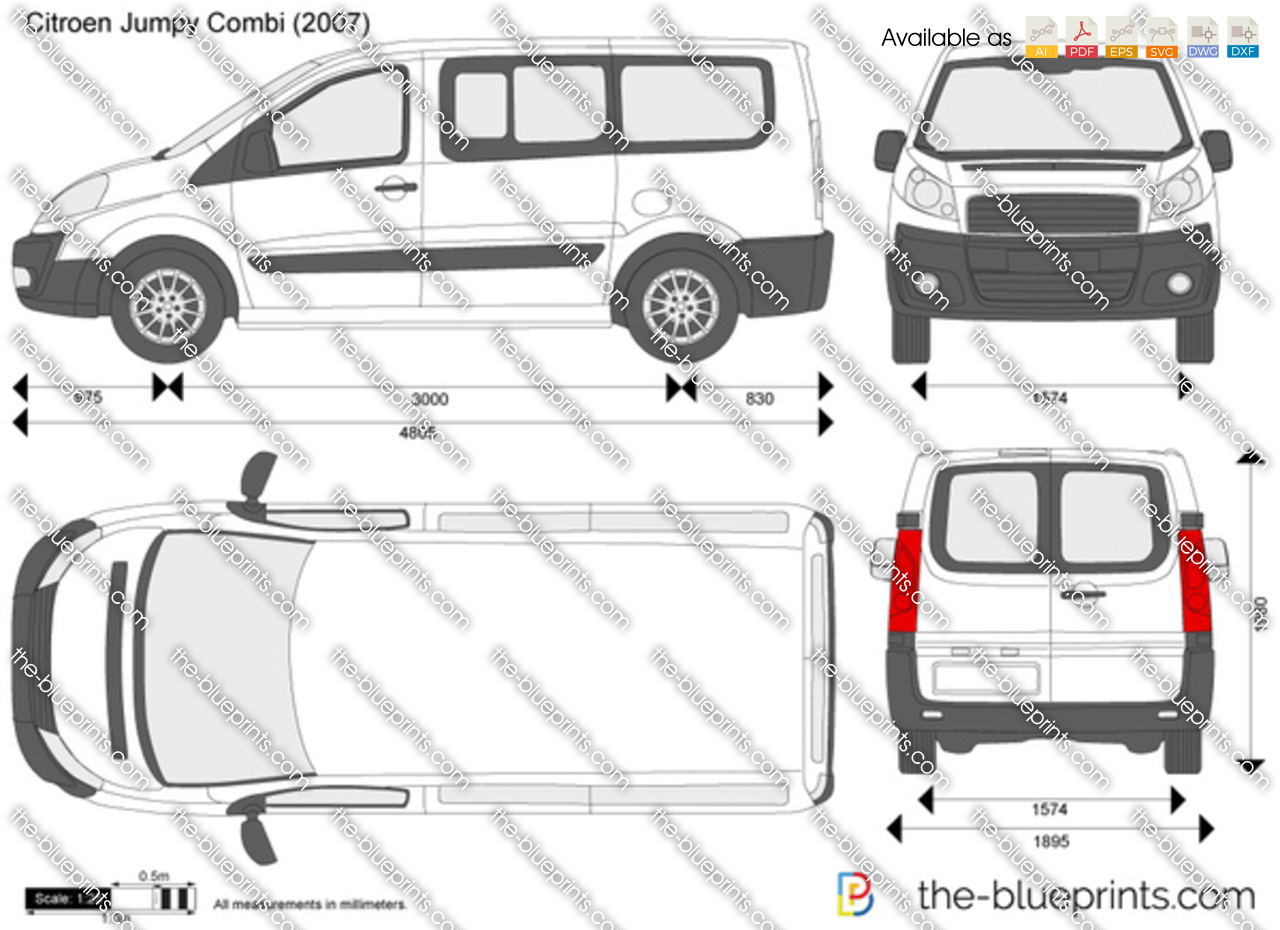 the vector drawing citroen jumpy combi. Black Bedroom Furniture Sets. Home Design Ideas