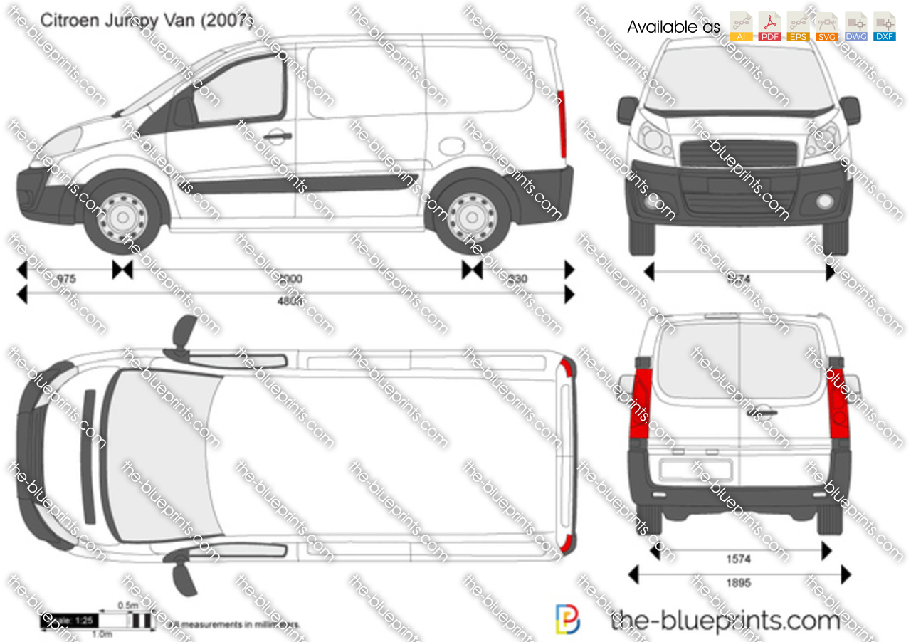 citroen jumpy van vector drawing. Black Bedroom Furniture Sets. Home Design Ideas