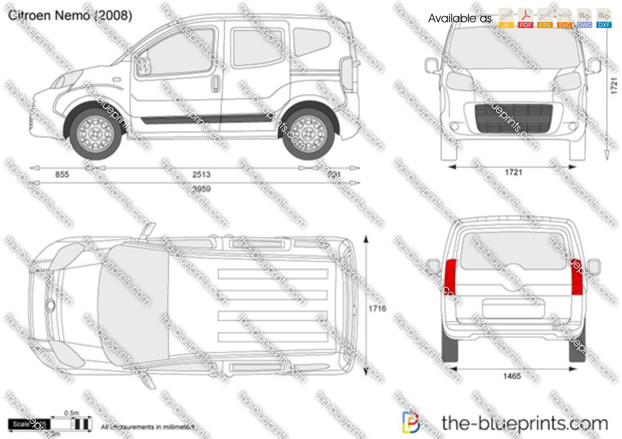 the vector drawing citroen nemo. Black Bedroom Furniture Sets. Home Design Ideas
