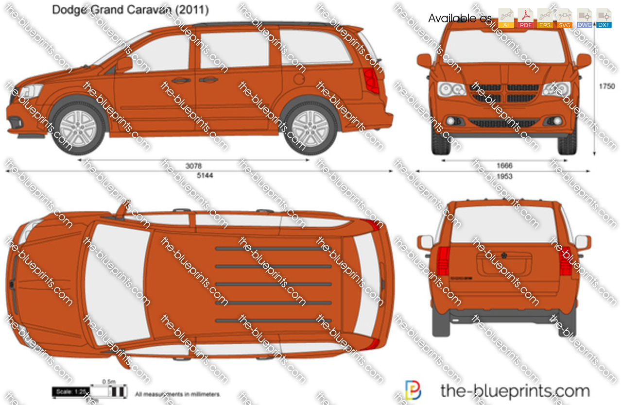 Dodge Grand Caravan Vector Drawing