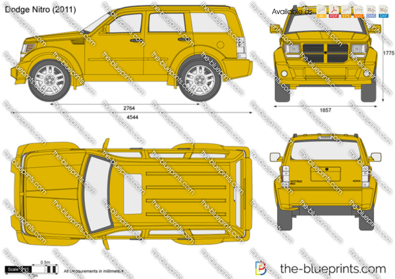 Dodge Nitro Vector Drawing