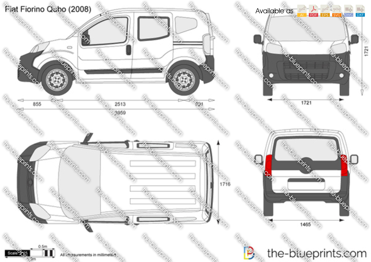 fiat fiorino qubo vector drawing. Black Bedroom Furniture Sets. Home Design Ideas