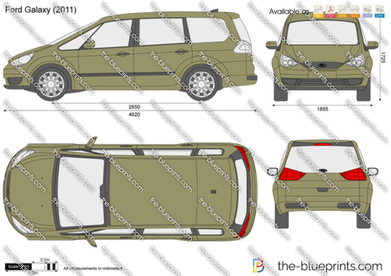 Ford Galaxy Vector Drawing