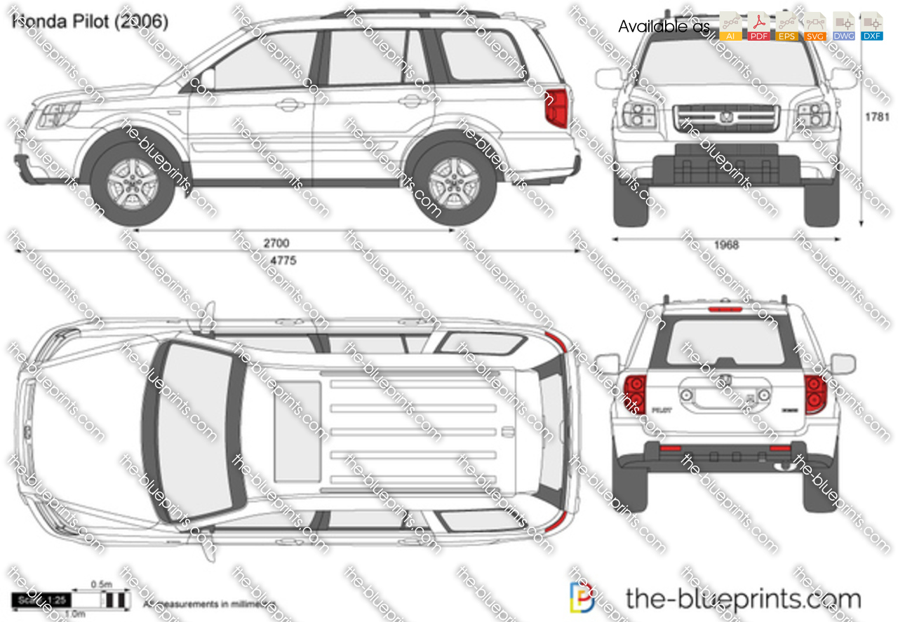 Honda Pilot vector drawing