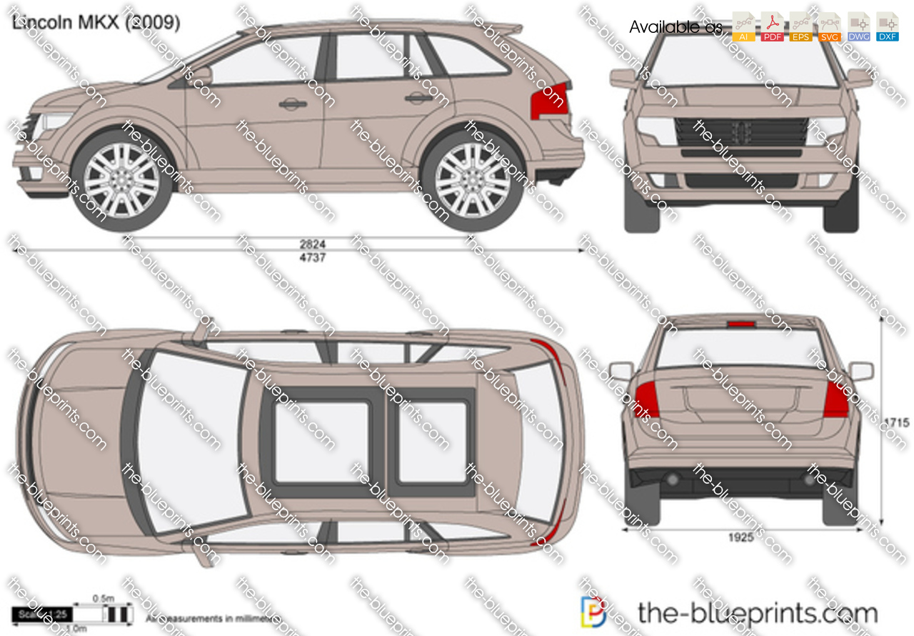 The Blueprints Com Vector Drawing Lincoln Mkx