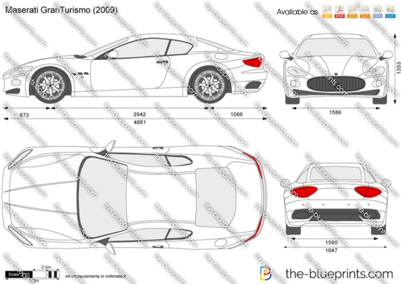 The Vector Drawing Maserati Gran Turismo