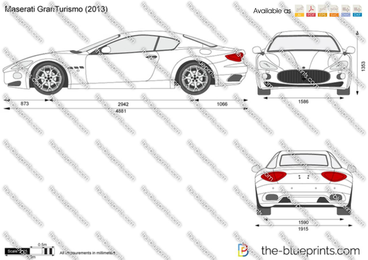 Maserati granturismo dimensions