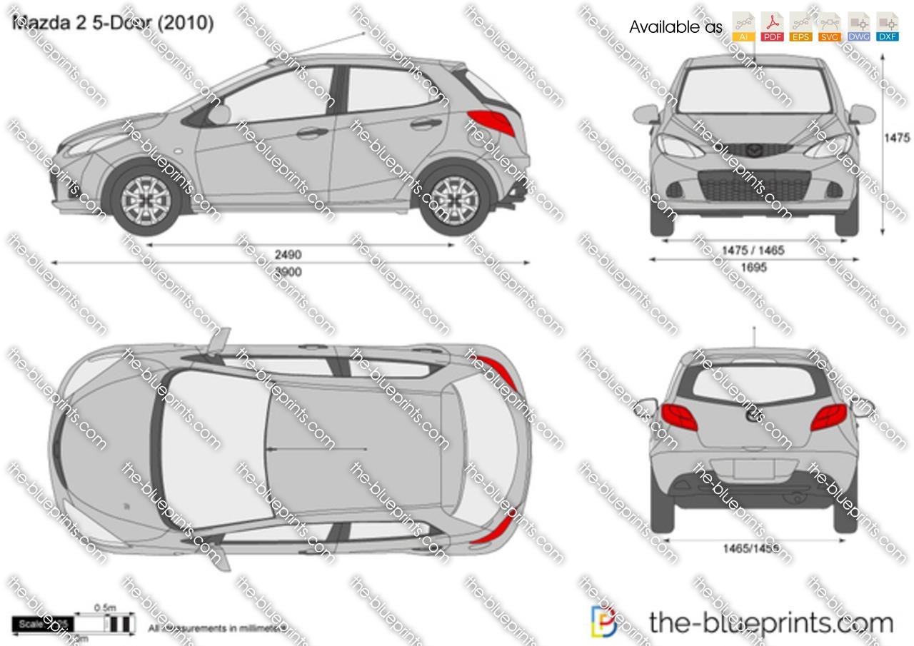 Mazda 2 5 door vector drawing mazda 2 5 door malvernweather Gallery