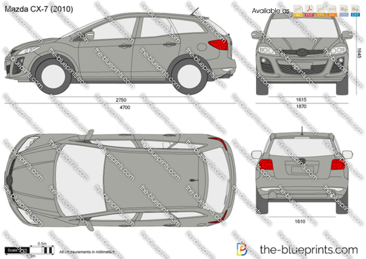 Mazda Cx 7 Vector Drawing