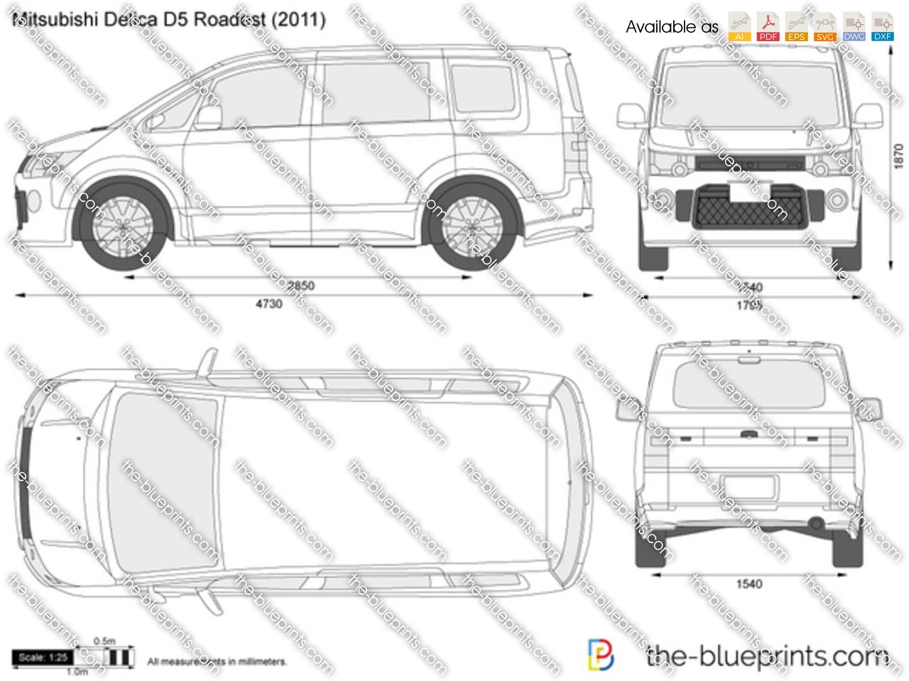 Mitsubishi Delica D5 Roadest Vector Drawing Wiring Schematic 2006 F250 Interior