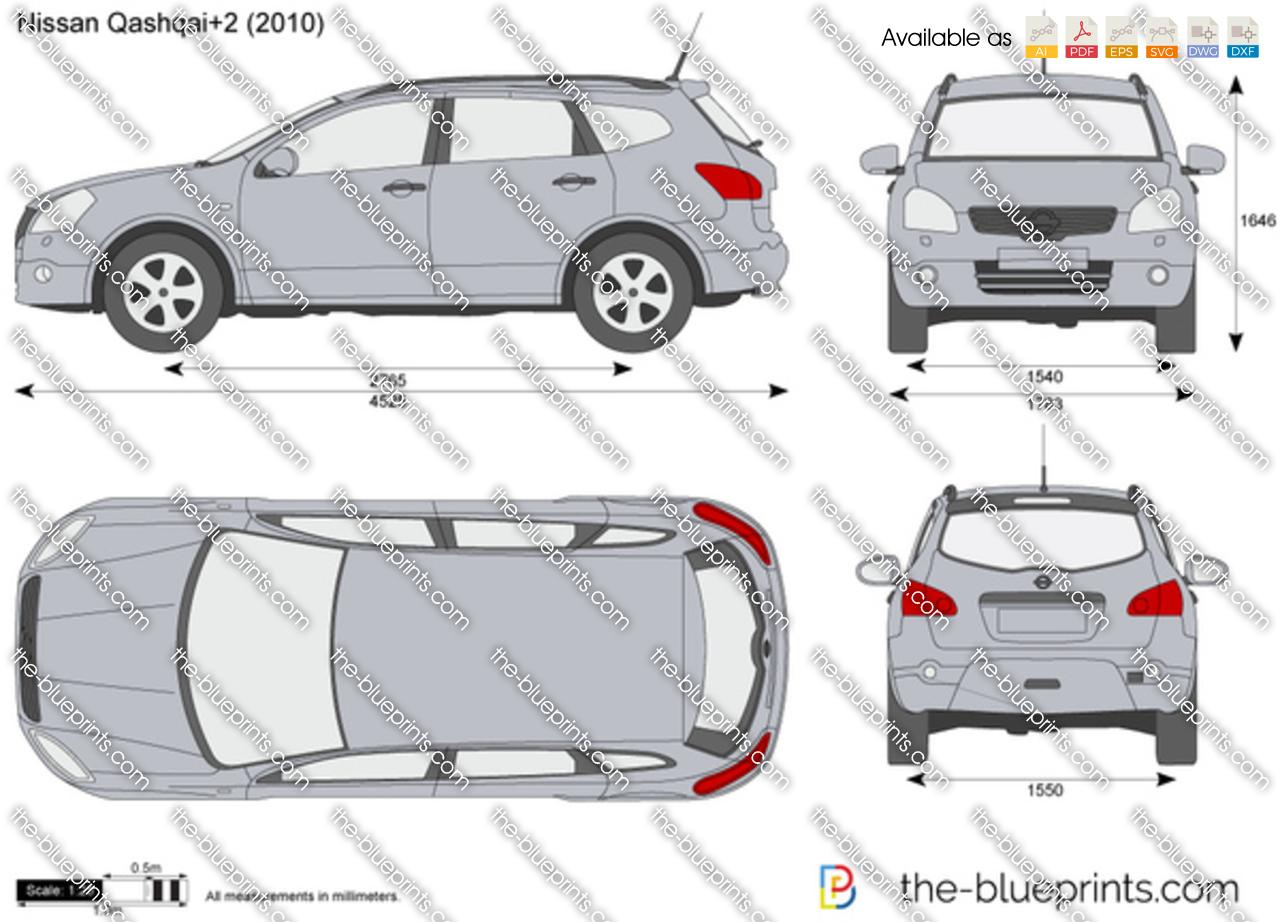 Nissan Qashqai 2 Vector Drawing