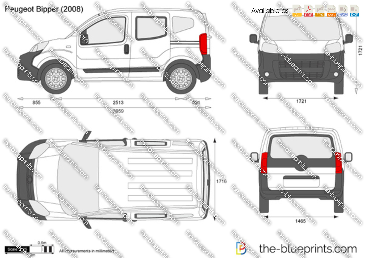 peugeot bipper vector drawing. Black Bedroom Furniture Sets. Home Design Ideas
