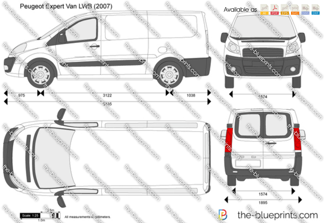 the vector drawing peugeot expert van lwb. Black Bedroom Furniture Sets. Home Design Ideas