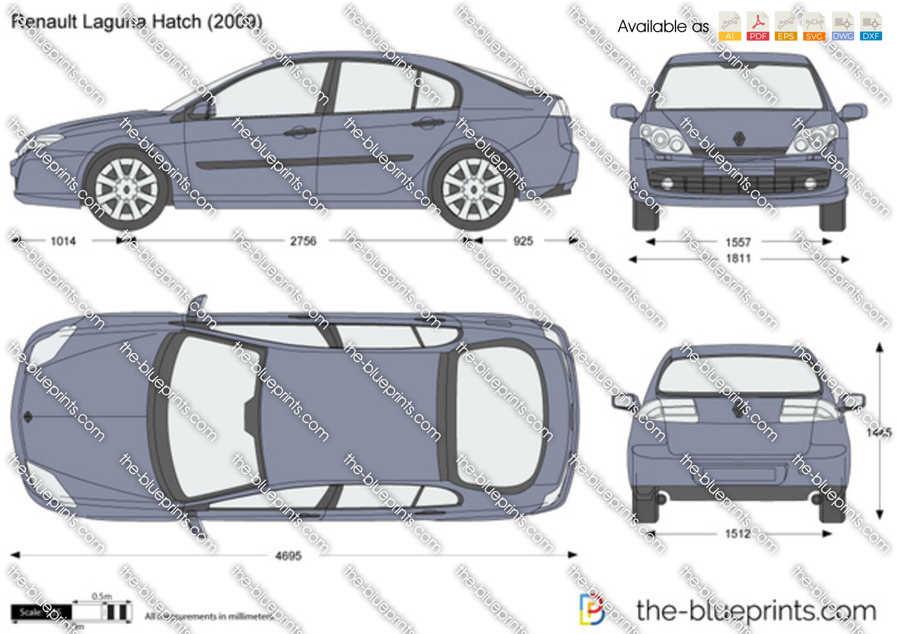the vector drawing renault laguna hatch. Black Bedroom Furniture Sets. Home Design Ideas