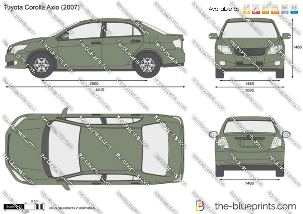 The Blueprints Com Vector Drawing Toyota Corolla Axio