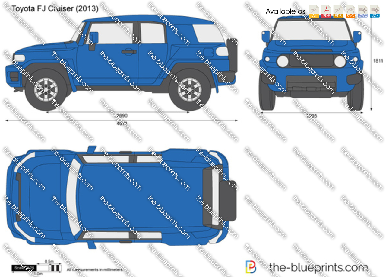 Toyota Fj Cruiser Vector Drawing