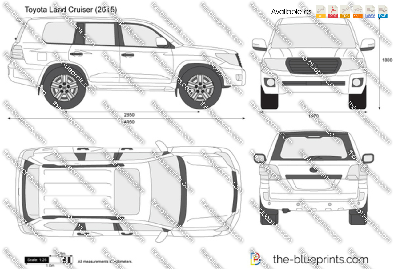 Toyota land cruiser j200 vector drawing toyota land cruiser j200 malvernweather Choice Image