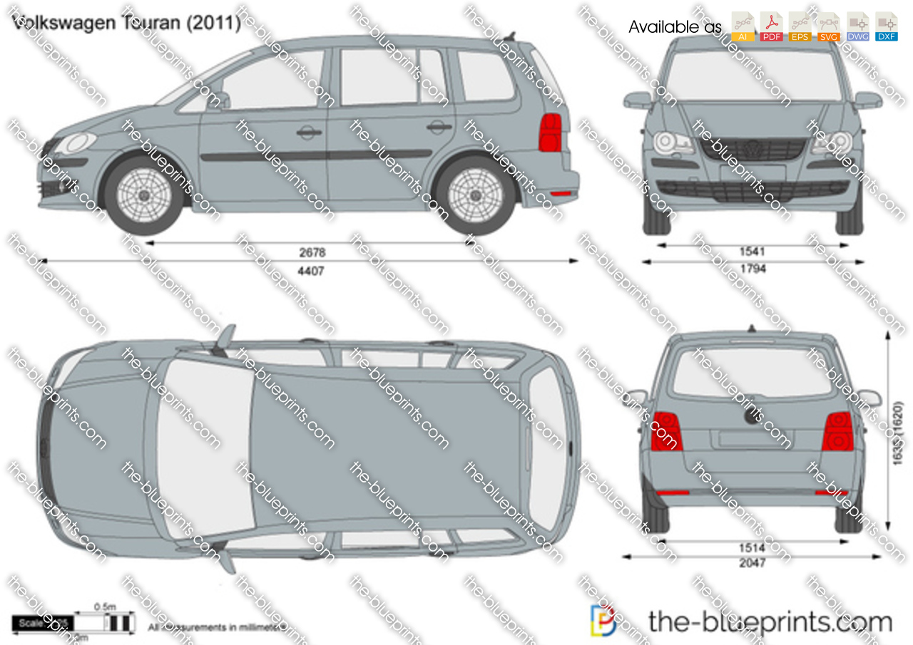 Volkswagen Touran Vector Drawing