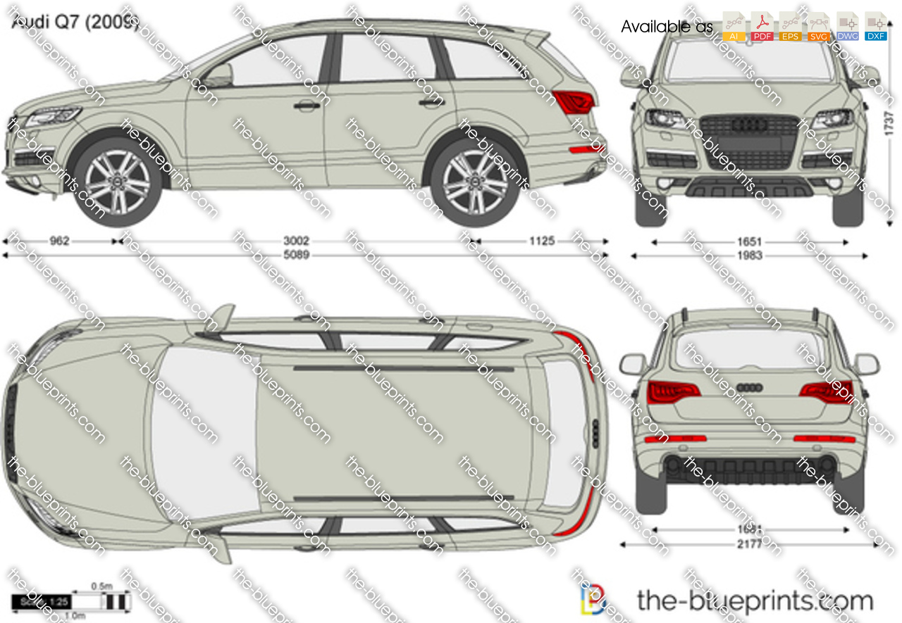 the vector drawing audi q7. Black Bedroom Furniture Sets. Home Design Ideas