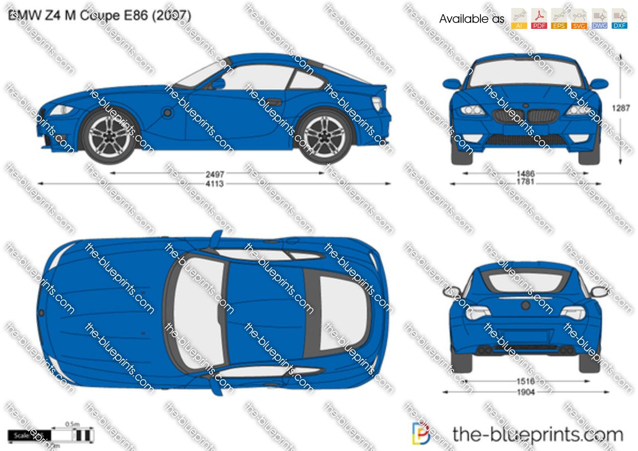 Bmw Z4 M Coupe E86 Vector Drawing