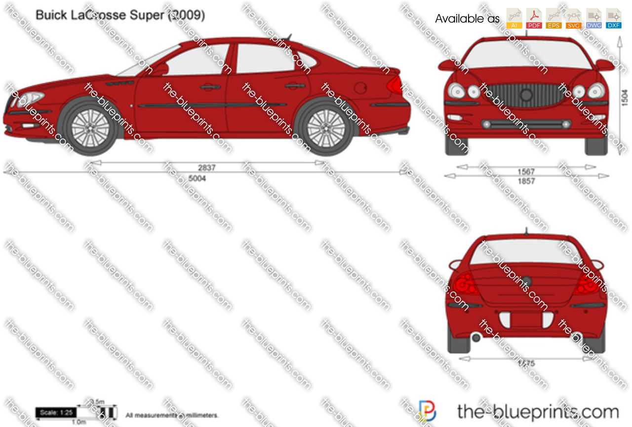 The Blueprints Vector Drawing Buick LaCrosse Super