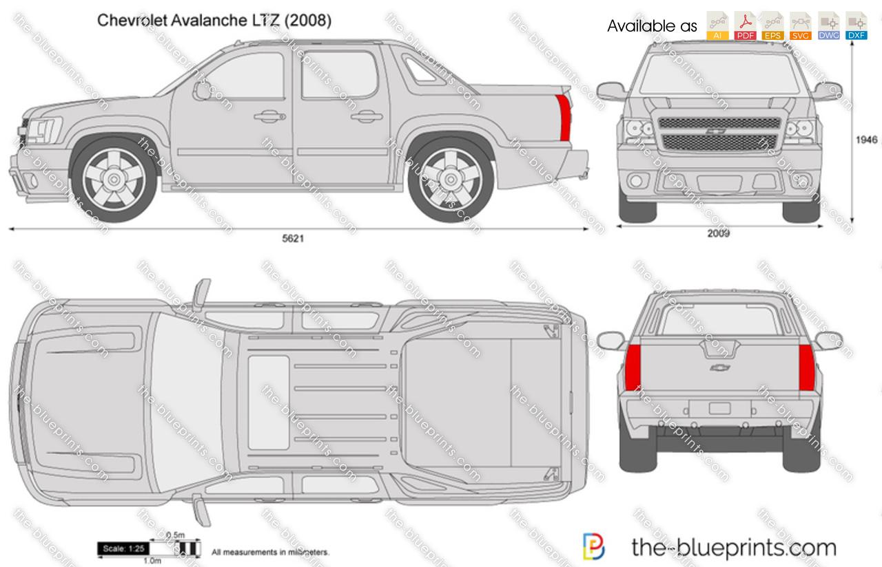 The Blueprints Com Vector Drawing Chevrolet Avalanche Ltz