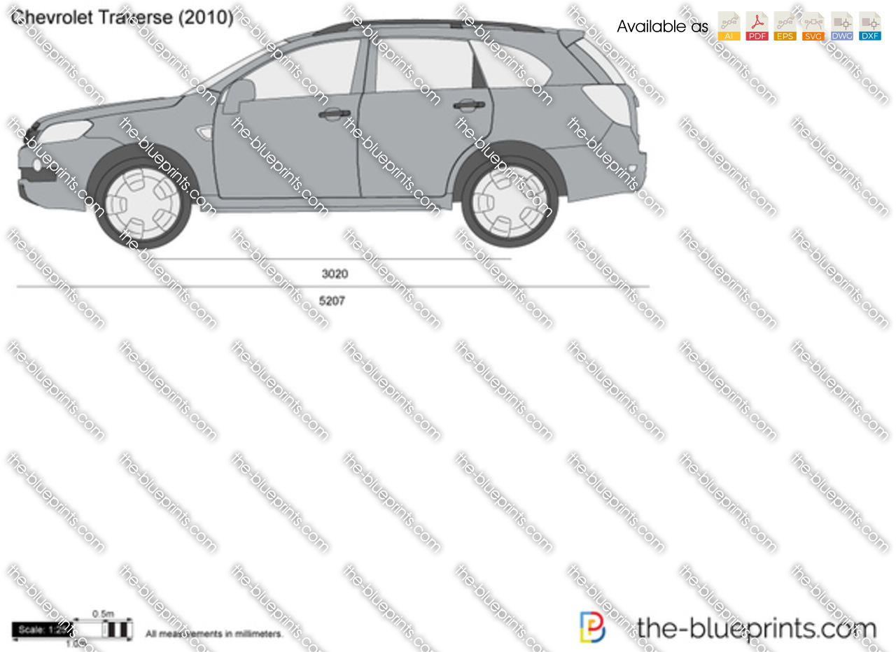 Chevrolet Traverse Vector Drawing